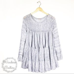 Free People Midnight Ruffles Shapeless Tunic